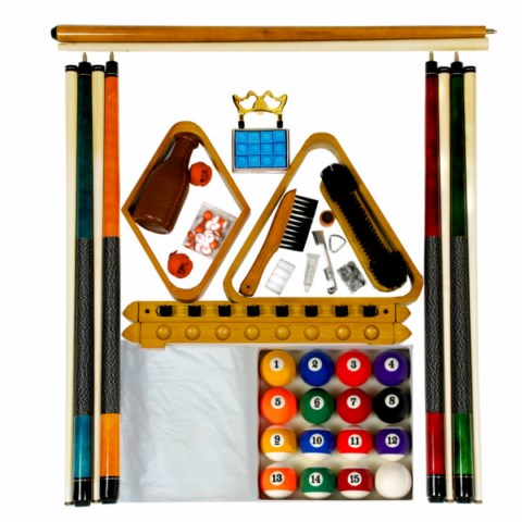 Billiard -  Pool Table Accessory Kit W Art # Style Ball Set Oak Finish